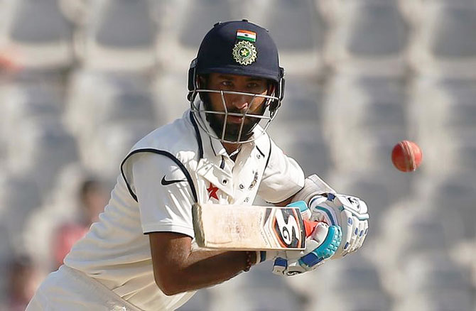 Rediff Cricket - Indian cricket - Pujara reveals Team India's game-plan for Day 3