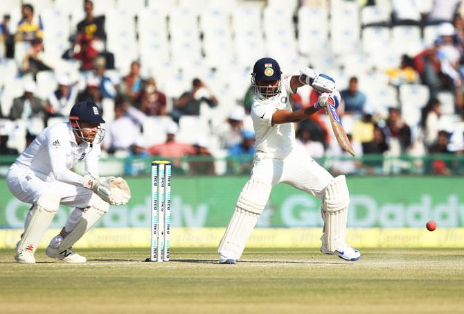 Rediff Cricket - Indian cricket - When below-par Rahane became victim of Rashid's gut feeling