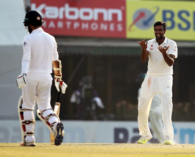 Rediff Cricket - Indian cricket - Ashwin's all-round show puts India in control