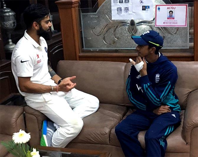 Rediff Cricket - Indian cricket - Cook, Kohli applaud brave Hameed