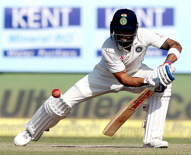 Rediff Sports - Cricket, Indian hockey, Tennis, Football, Chess, Golf - Kohli surges to career-best third in ICC Test rankings