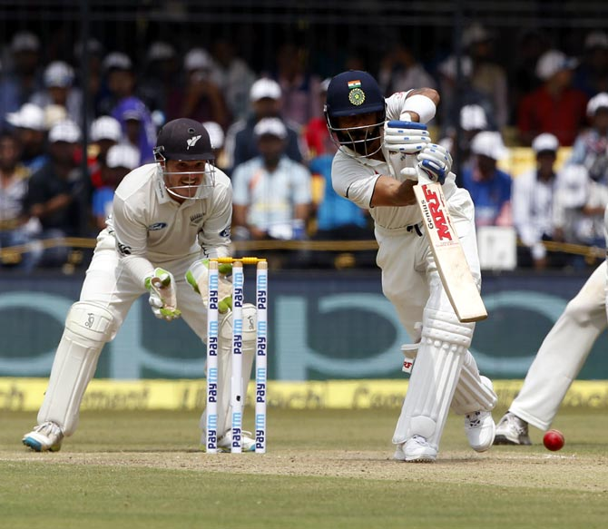 Rediff Cricket - Indian cricket - Stats highlights: Kohli's average highest among Indian captains!