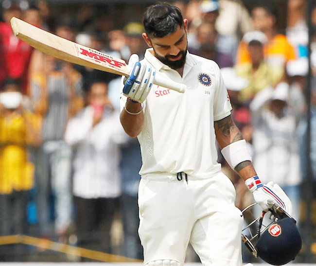 Rediff Cricket - Indian cricket - Stats: Kohli first Indian skipper to hit two double centuries