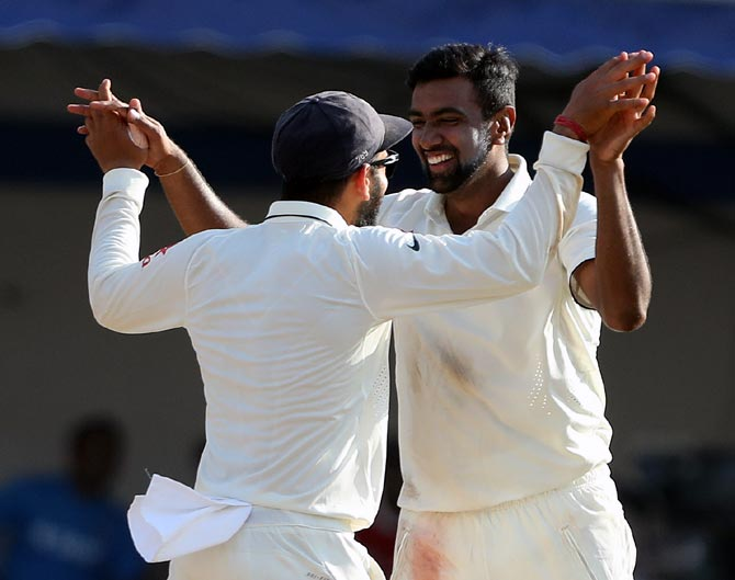 Rediff Cricket - Indian cricket - Stats: Ashwin takes honours in India's big win