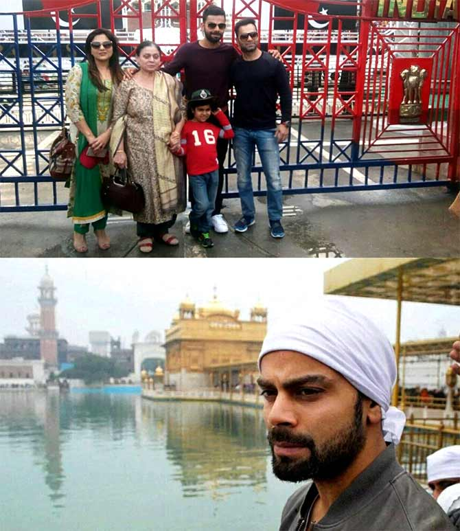 Virat Kohli with is family at Wagah