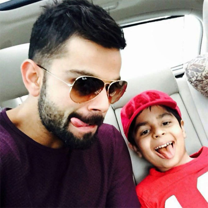Virat Kohli with his nephew
