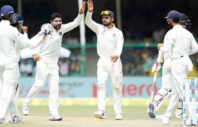 Rediff Cricket - Indian cricket - Stats: Jadeja's bowling average best in Asia