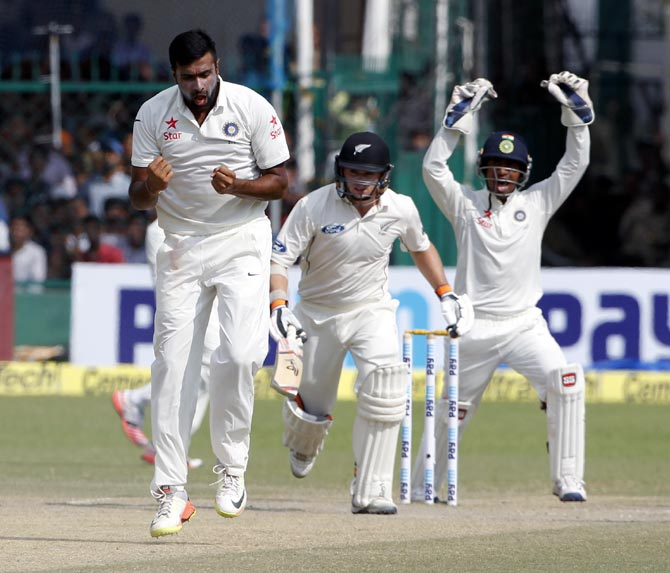 Rediff Sports - Cricket, Indian hockey, Tennis, Football, Chess, Golf - 200 wickets in only 37 Tests, that's Ashwin for you!