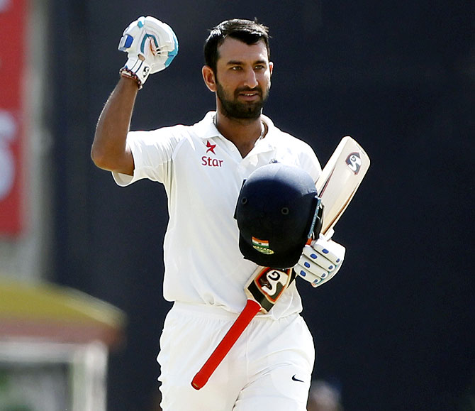Rediff Sports - Cricket, Indian hockey, Tennis, Football, Chess, Golf - As 50th Test beckons, Pujara's career in numbers