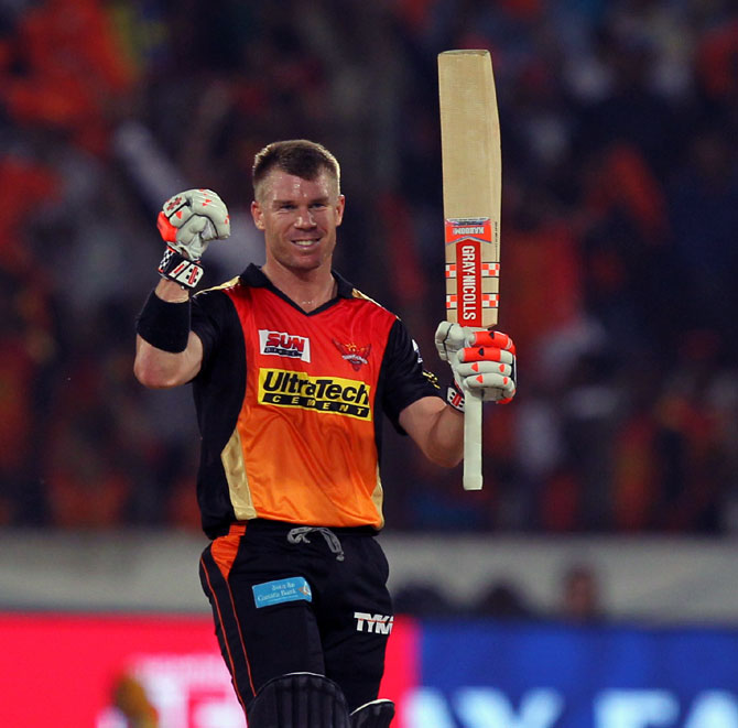 Rediff Sports - Cricket, Indian hockey, Tennis, Football, Chess, Golf - Warner, not Stokes, is IPL 10's Most Valuable Player