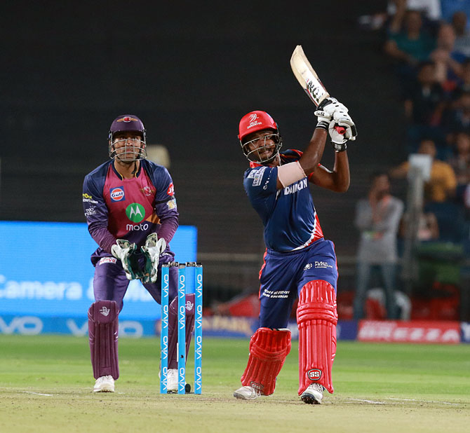 Rediff Sports - Cricket, Indian hockey, Tennis, Football, Chess, Golf - IPL-10's first centurion Samson on mentor Dravid and support staff