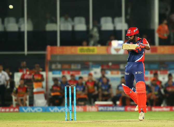 Delhi Daredevils' Shreyas Iyer made a valiant 50 not out but could not take his team across the line