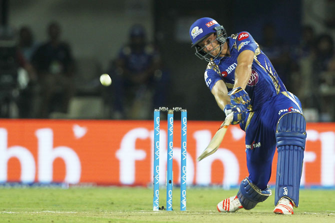 Mumbai Indians' Jos Buttler hammered the King's XI Punjab bowlers all over the park, scoring a brilliant 37-ball 77 to help his team sail past the daunting target