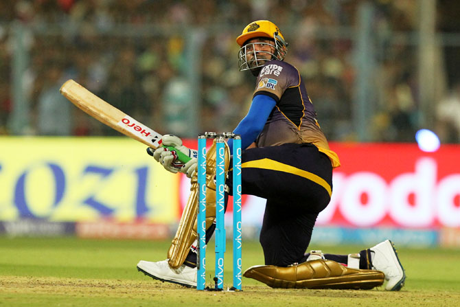 Robin Uthappa was the star for Kolkata Knight with a quick-fire half-century