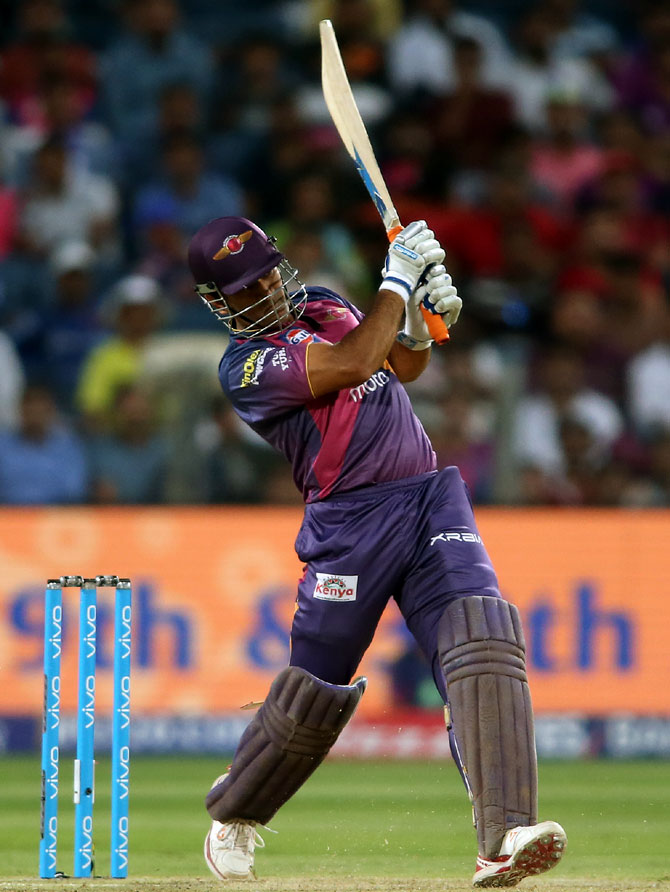 Rediff Cricket - Indian cricket - IPL PHOTOS: Dhoni 'the finisher' powers Pune to victory