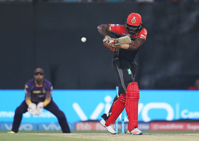 Royal Challengrs Bangalore opener Chris Gayle struggled to get going against Kolkata Knight Riders in Eden Gardens in Kolkata on Sunday
