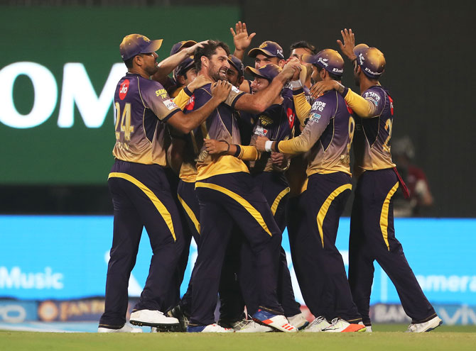Rediff Cricket - Indian cricket - IPL PHOTOS: KKR pacers rip apart RCB to record stunning 82-run win