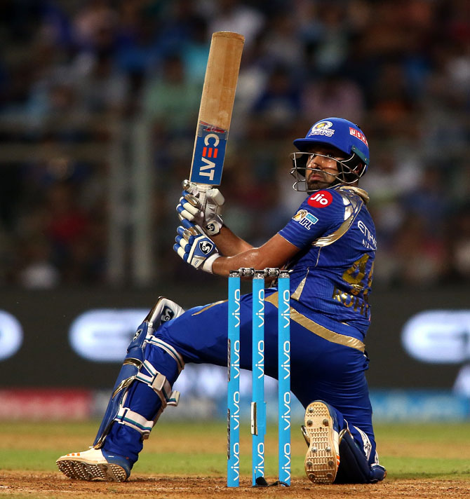 Rediff Cricket - Indian cricket - Bhajji backs Rohit after MI captain is charged for dissent