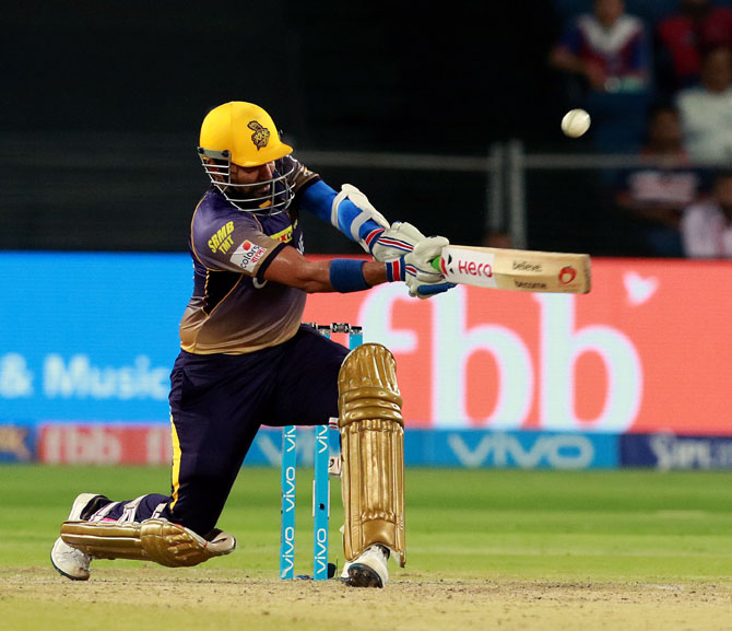 Rediff Cricket - Indian cricket - PHOTOS: Brilliant Uthappa powers KKR to top of IPL 10