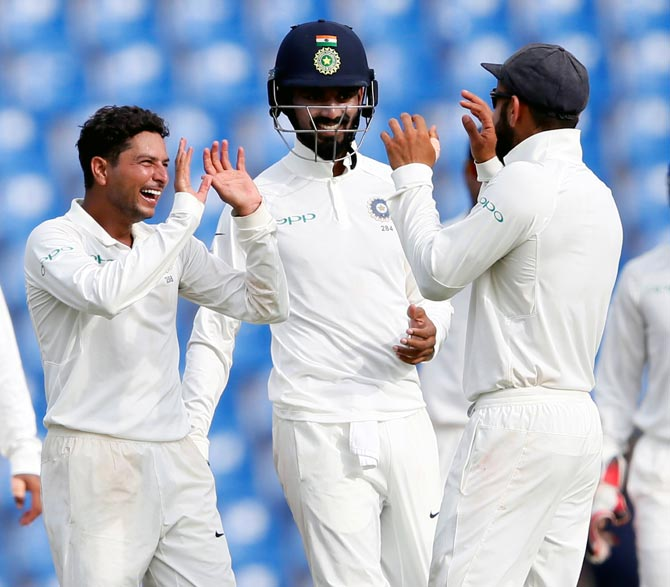 Rediff Cricket - Indian cricket - 3rd Test: India in control as Sri Lanka stare at another defeat