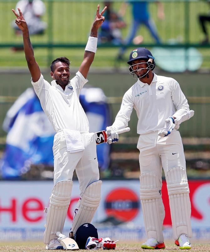 Rediff Cricket - Indian cricket - PHOTOS: Pandya, Kuldeep put India on course for series whitewash