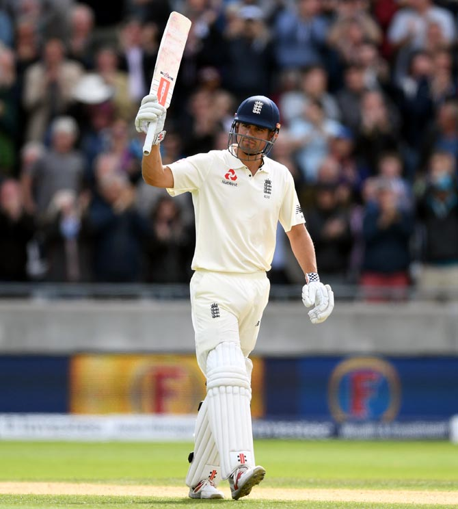 Rediff Cricket - Indian cricket - Rain holds up England after Cook makes 243