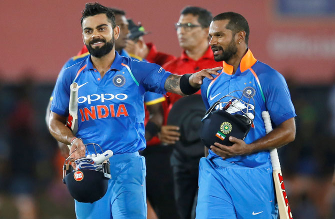 Rediff Sports - Cricket, Indian hockey, Tennis, Football, Chess, Golf - PIX: How India dominated Sri Lanka in 1st ODI