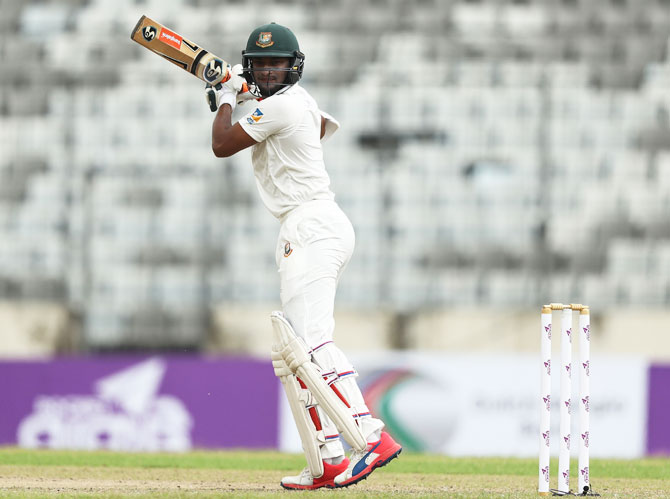 Shakib rescued Bangladesh with a timely 84 in the first innings