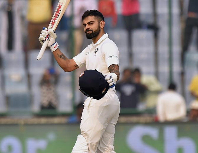 Rediff Cricket - Indian cricket - Check how many records Virat broke on Saturday