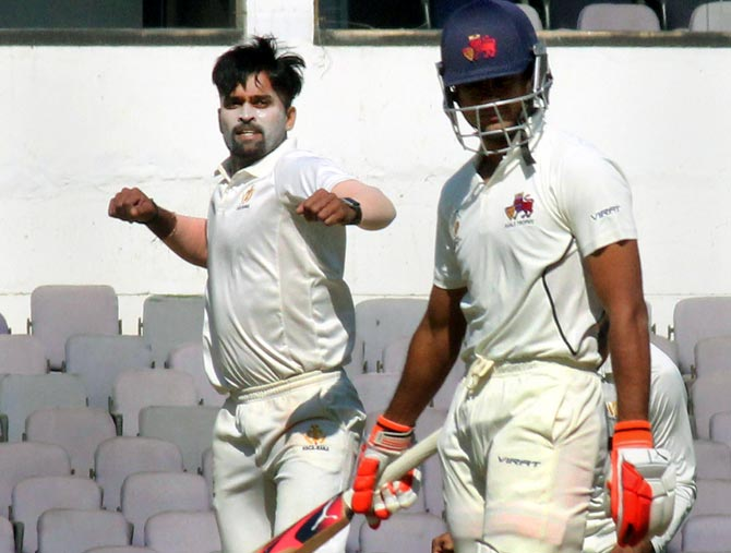 Image result for Karnataka rout Mumbai to enter Ranji Trophy semis