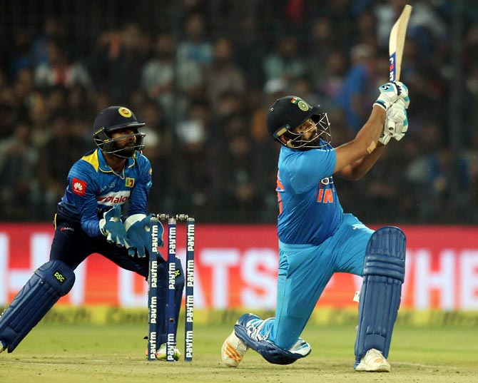 Rediff Cricket - Indian cricket - Rohit's Amazing 100: Check the stunning numbers