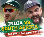 India's tour of South Africa 2017-18