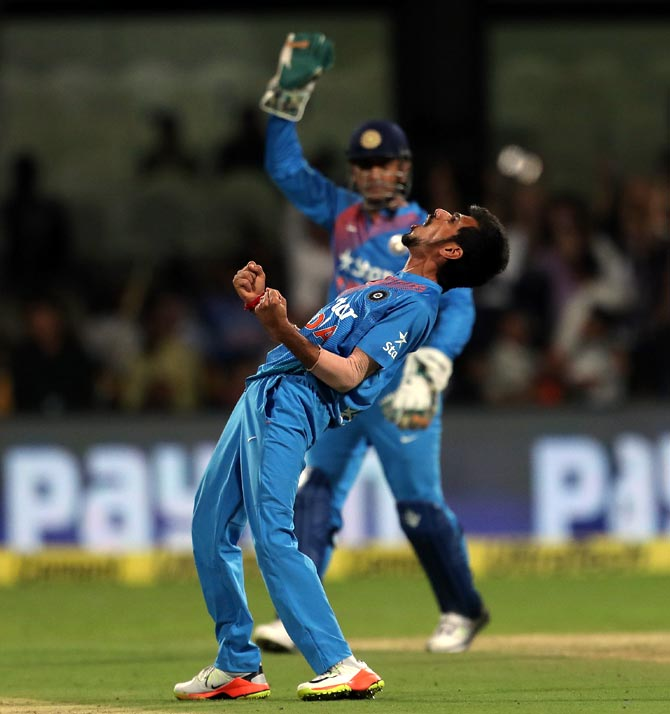 Rediff Cricket - Indian cricket - Yuzi Chahal's magic spell is up there with the best
