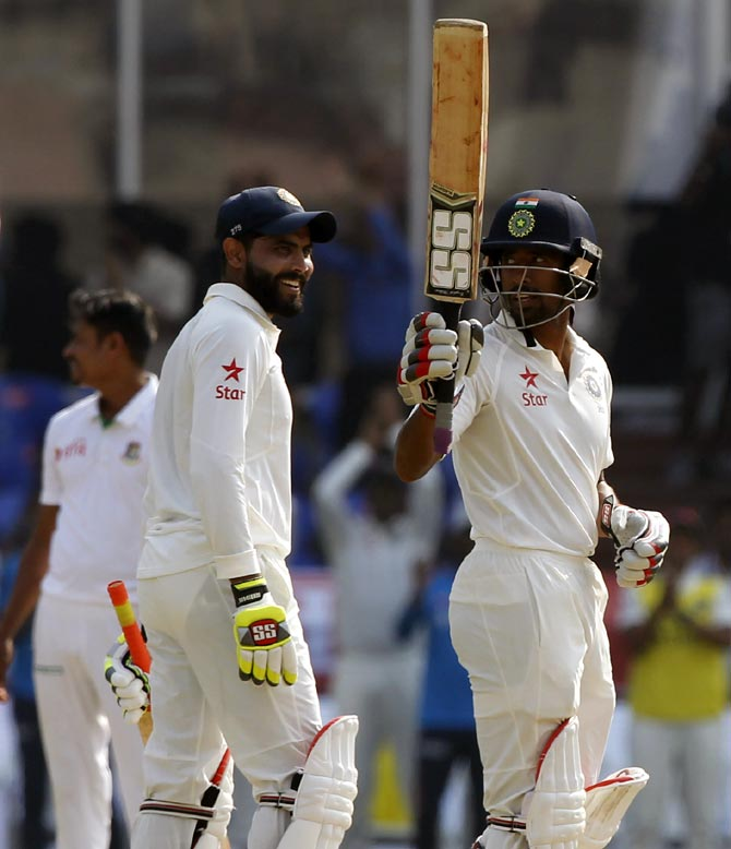 Rediff Cricket - Indian cricket - PHOTOS, One-off Test: Kohli double ton leads India's run feast