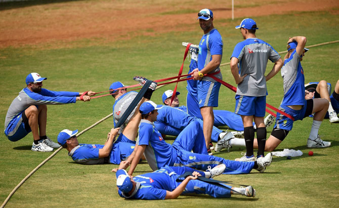 Rediff Cricket - Indian cricket - Australia to get a feel of conditions in warm-up against India 'A'