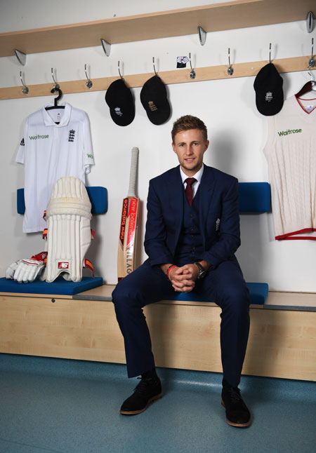 England Test captain Joe Root poses for a portrait during a Press Conference, at Headingley in Leeds on Wednesday