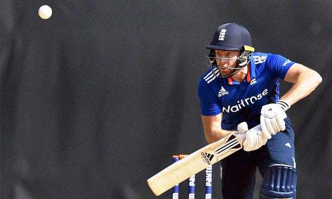 England XI's Jonny Bairstow during his 64-run innings against India 'A' on Thursday
