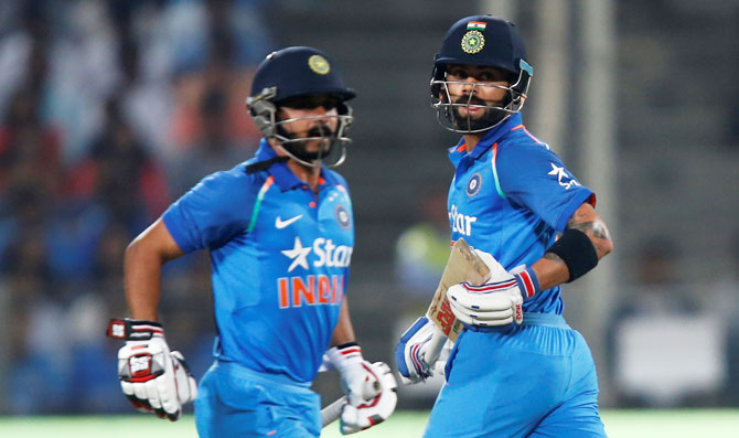 Rediff Cricket - Indian cricket - The Virat-Kedar show: Counterattacking that blew England away