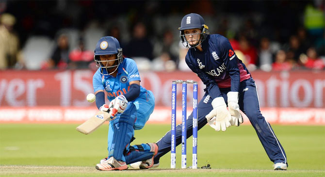 Punam Raut tries to get cheeky en route her innings of 86
