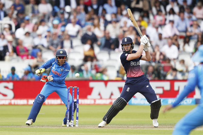 Natalie Sciver in action against India