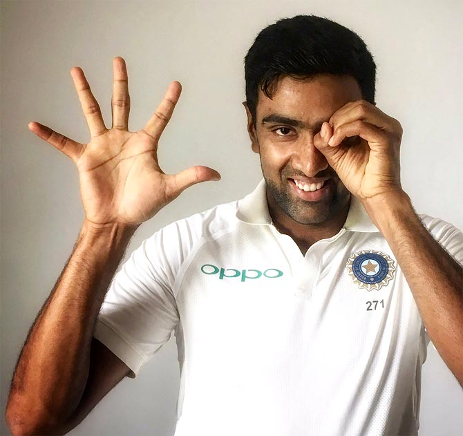 Rediff Cricket - Indian cricket - Ashwin 49 going on 50: All the Numbers