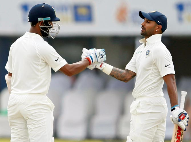 Rediff Sports - Cricket, Indian hockey, Tennis, Football, Chess, Golf - 1st Test: Dhawan, Pujara power India to 399/3 vs Lanka on Day 1