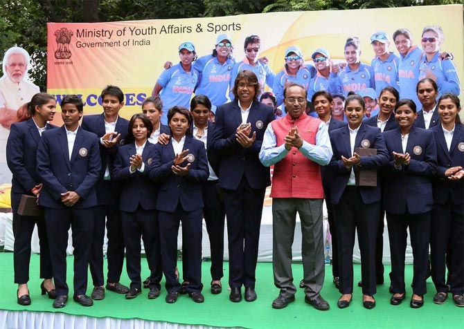 Rediff Sports - Cricket, Indian hockey, Tennis, Football, Chess, Golf - 'Indian women's cricketers will inspire millions of young women to take up sports'