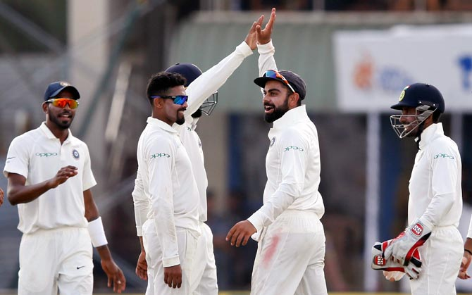 Rediff Sports - Cricket, Indian hockey, Tennis, Football, Chess, Golf - PHOTOS: India dominate Day 2 to take charge of Galle Test