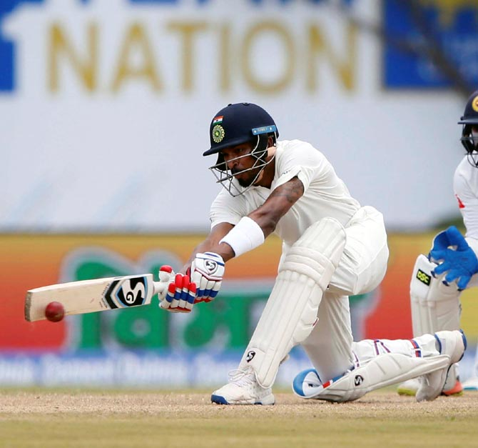 Rediff Sports - Cricket, Indian hockey, Tennis, Football, Chess, Golf - 1st Test: Pandya, pacers put India in command against Lanka