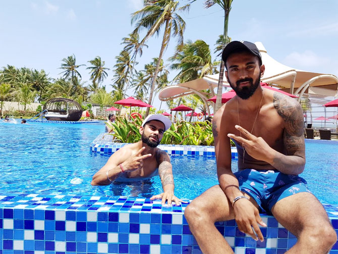 Virat Kohli and KL Rahul 'chill by the pool'