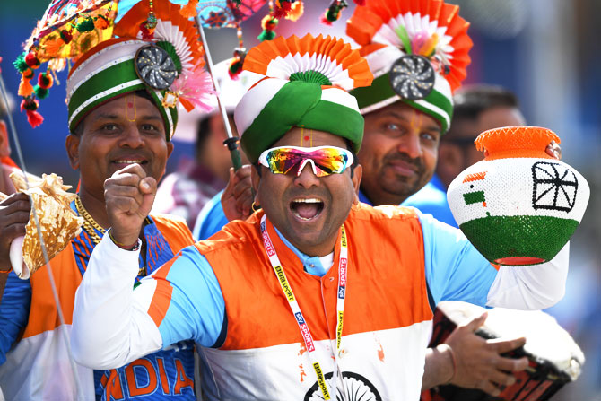Indian fans at the game against Pakistan in Edgbaston, June 4, 2017