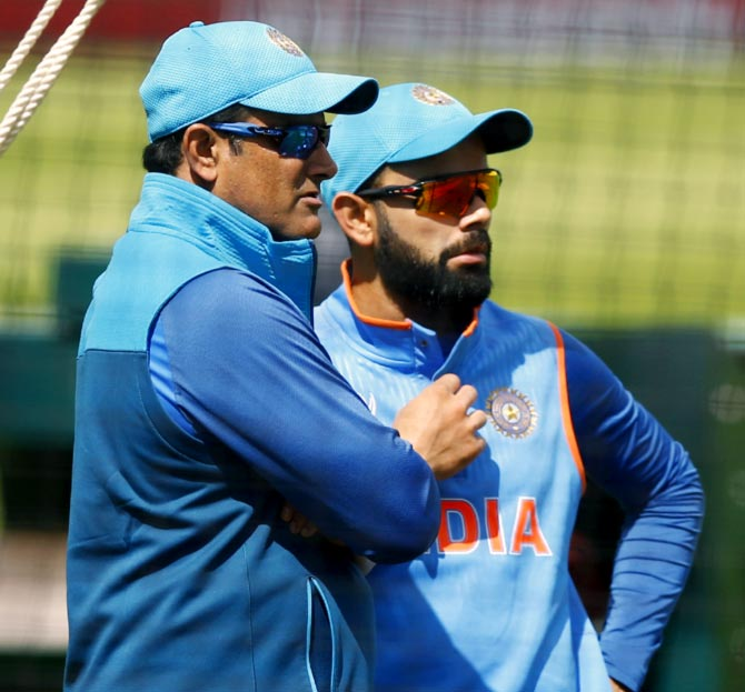 Rediff Sports - Cricket, Indian hockey, Tennis, Football, Chess, Golf - Chappell backs Kohli in Kumble controversy