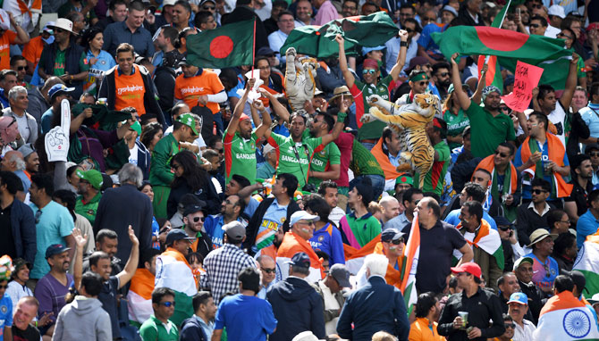Bangladesh fans turn up the noise as they cheer their team on