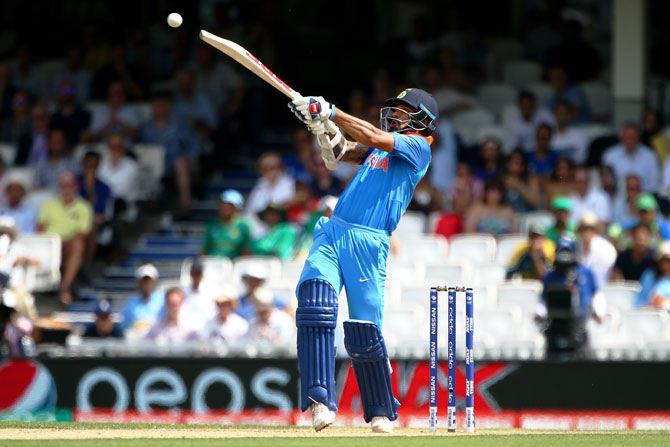 Shikhar Dhawan hits out